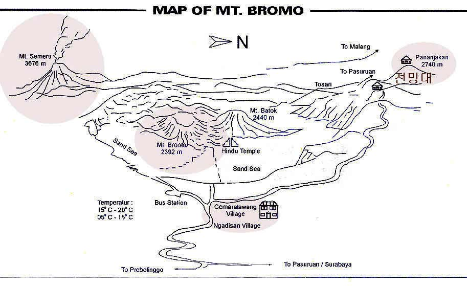 map of bromo지도